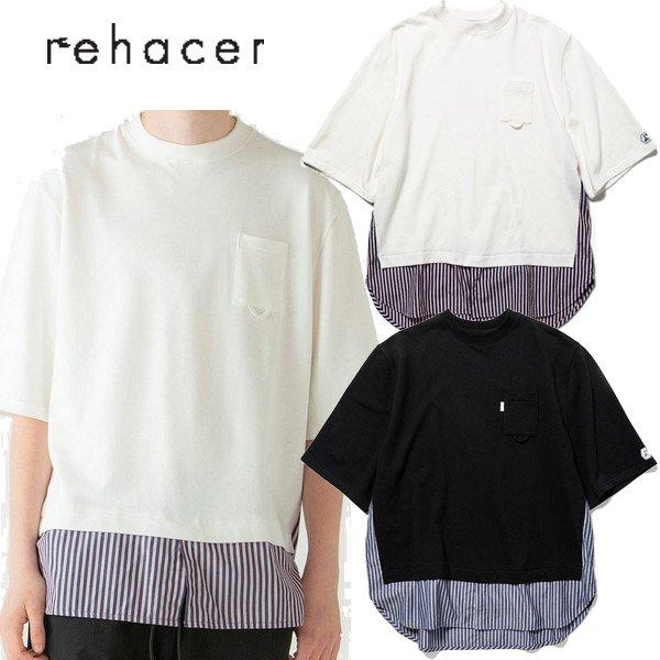 画像1: rehacer ( レアセル ) - Joint Layered Stripe Wide CS (1)
