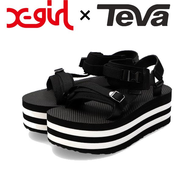画像1: X-girl ( エックスガール ) - X-girl × TEVA FLATFORM LUXE ELEVATED (1)