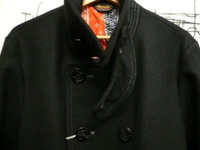 """画像1: UNRIVALED (  アンライバルド ) -  """"Pea Coat"""" BLACK"""