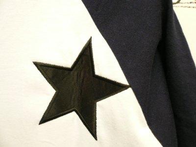 """画像3: UNRIVALED×M&M  -  UNRIVALED×M&M """"Basic Star Raglan"""" NVY/WHT"""