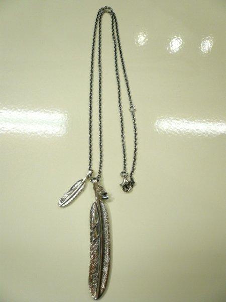 画像1: JAM HOME MADE ( ジャムホームメイド) - DOUBLE FEATHER & DIAMOND NECKLACE  (1)