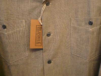 画像2: BELAFONTE  ( ベラフォンテ )  -  RAGTIME CHAMBRAY HOLLYWOOD LEISURE SHIRTS