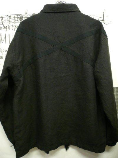 画像1: NEXUSVII ( ネクサスセブン ) - LINEN MIL.COACH [MLS-NSU-J0B] BLACK