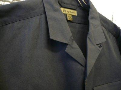 画像2: NIGEL CABOURN  ( ナイジェル・ケーボン ) - Nigel Cabourn  - オープンカラード ワイドシャツ ショートスリーブ/OPEN COLLARD WIDE SHIRT SHORT SLEEVE