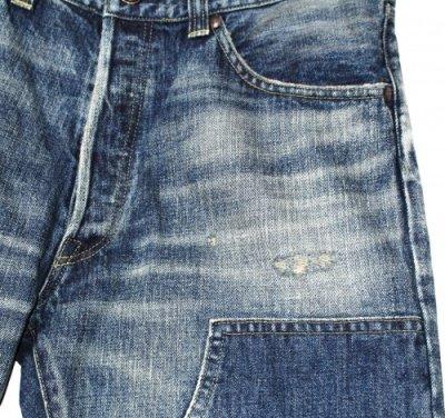 画像1: NEXUSVII ( ネクサスセブン ) - W-KNEE REPAIRED DENIM PANTS デニムパンツ INDIGO [MLA-NYD-P0A]