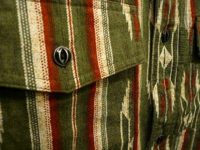 画像1: NIGEL CABOURN  ( ナイジェル・ケーボン ) - Nigel Cabourn 70s NATIVE SHIRT PANAMA COLTH  NATIVE PATTERN PRINT ネイティブシャツ  80400010010